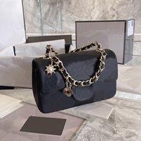 5A + Top Qualität Mini Crossbody Bag Luxus Designs Frauen Handtaschen 2021 Lämmer Lederkupplung mit Abzeichen Ang Gold Kette Flap Geldbörse Schaffell Brieftasche Großhandel
