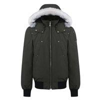 Hombres Moose Bomber Balistic Down Jackets Invierno Fur Hooding Casual Abrigo EEUU Reino Unido Parkas Cánetas Ropa Exterior de Canadá