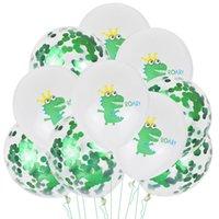 Kit de globo dinosaurio feliz cumpleaños palabras niños fiesta fondo pared decoración globos niños juguetes 27gx J2