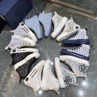 2021 B22 B23 한정판 사용자 정의 인쇄 캔버스 신발 패션 다목적 높은 및 낮은 신발 원래 포장 35-45 모든 색상
