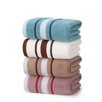Towel Bath Sets 100% Cotton Luxury El Wholesale White Stripe Soft Custom Printing Turkish Set
