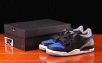 Genuine Jumpman 312 Mens Womens Scarpe da basket Amanti Black and Blue Sneakers Full Size 36-45