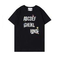 Женщины Мода Любители Одежда Письмо напечатаны совместно универсальные Люксы дизайнер футболка Мужская футболка Мужские S Дизайнер футболки 2021 Размер S-XXL