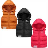 Enfants Down gilet gilet gilet veste à capuche gilets d'hiver garçon bébé automne automne vêtement d'extérieur 0-8 ans enfants vêtements chauds