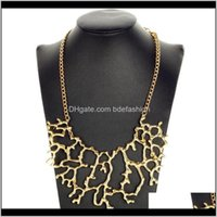 Necklaces & Pendants Jewelryminhin Personality Hollow Pendant Collar Chain Jewelry Branch Design Gold Colors Zinc Alloy Maxi Necklace Women