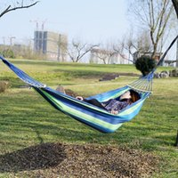 Outdoor Games & Activities Portable Hammock Swing Chair Garden Sports Home Travel Camping Canvas Stripe Hang Bed