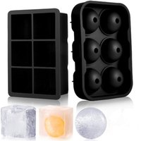 Set of 3 Silicone Ice Cube Trays with Lids Cream Tools Large Size Mold for Whiskey Cocktails Icecream Reusable BPA Free KDJK2107