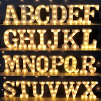 Alphabet Letter LED Lights Luminous Number Lamp Decor Battery Night Light for Home Wedding Proposal Birthday Christmas Party Holiday Decoration A to T