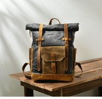 Backpack ,Brand Classic Waterproof Canvas Backpack,vintage Schoolbag.casual Bag,big 18inch Laptop Backpack.leather Bag.