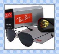 جودة عالية راي الرجال النساء النظارات الشمسية خمر الطيار طيار العلامة التجارية الشمس النظارات الفرقة uv400 حظر مع صندوق وقضية 3025 r7