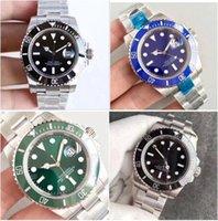 U1 공장 ST9 스틸 시계 124060 자동 기계식 블랙 다이얼 사파이어 유리 세라믹 시계 남자 스테인레스 손목 시계 41mm 126610LV 116610