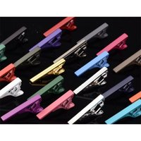 200pcs lot Colorful 4cm Necktie Pin Skinny Glossy Bar Clasp Slim Tie Clip Wedding Party Gift Men Jewelry Accessory