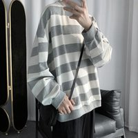 Men's T-Shirts Autumn Striped Sport Tshirts Men Casual Trend Youth All-match Tee Shirt Student Unisex Bottoming Long-sleeved T-shirt Pullove