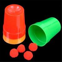 Magie tasses et balles magiques tours illusion mentalisme truco de magie enfants jouet jouet professionnel magicien astuce gros plan
