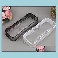 Cases Supplies Office Business & Industrialpvc Pencil Bag Zipper Pouch School Students Clear Transparent Waterproof Plastic Pvc Storage Box