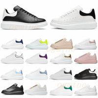 [С коробкой] дизайнер высокого качества классические обуви белые черные замши мужские женские квартиры платформы негабаритные кроссовки обувь Espadrille плоские кроссовки 36-46 C8 #