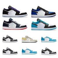 Taille 13 1 Basse Travis Scotts Shoes 1S Top Obsidian Unc University Blue Voile 4 Bred Starfish Mens Femmes Sneakers Entraîneurs