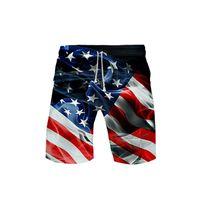 Men's Shorts Fashion Trendy Classic Creative Eagle USA Flag Swimwear Swim Trunks Beach Board Mens Sports Swimming Pants