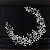 Hair Clips & Barrettes AiliBride Pearl Crystal Headband Wedding Vine Tiara Bridal Headpiece Bride Jewelry Accessorie
