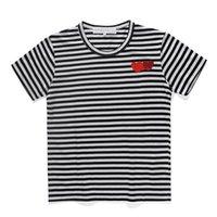 2021 디자이너 스트라이프 짧은 소매 티셔츠 남성 및 여자 티셔츠 여름 품질 짧은 소매 여자 코튼 캐주얼 티셔츠 S-XL