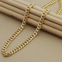 Marca de lujo 8mm lado 24k amarillo oro relleno hombres vintage hop hop collar de cadena para hombre