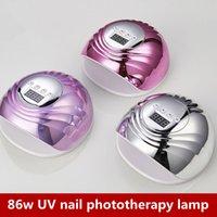 2021 High-Power 86W UV Prego Phototerapia Secadores LCD Display Secagem Todos os Géis Polonês Nails Art Tools 3 Cores