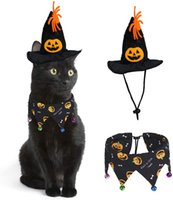 Nowy Cat Apparel Krawaty Bow Collar Dyni Czaszki Krawaty Regulowane Pet Grooming Akcesoria do Halloween Ubrania
