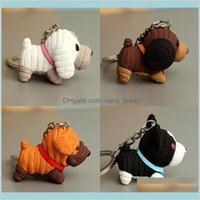 Fashion Dog Car Keychain Animal Couple Lovely Keychain Car Keyring Gift For Girl Women Men Jewelry Mothers Day Bag Charm Pet Rbpoc 2O9Gz