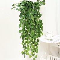Party Supplies Künstliche Efeu Girlande Laub Grüne Blätter Gefälschte Hängende Rebe Pflanze Rattan Für Hochzeit Garten Wanddekoration HWF7551