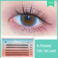 A-Shaped Eyelashes Fish Tail Eye Lashes Upper and Bottom Fake Lash Extensions 0.07mm C Mix Length per Tray