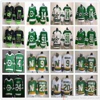 2021 Actualités Black Dallas Stars Hockey 14 Jamie Benn Jerseys Tyler 91 SEguin Miro Heiskanen CCM Rétro Mike Modo Dino Ciccarelli Vert Blanc
