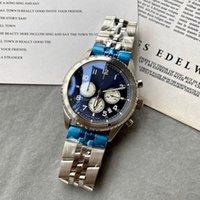 Top Men 42mm Quartz Battery Chronograph Japan Movement Black Sport Model Wristwatch With Stainless Steel