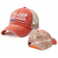 5 Renkler Trump 2024 Biden Yaz Net Peak Cap ABD Başkanlık Seçim Beyzbol Yıkanmış Pamuk Sun Hats Lla564
