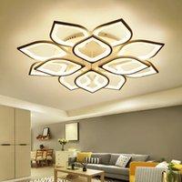 Ceiling Lights Modern Led Bedroom Light Fixtures Lotus Flower Crystal K9 Hallway Lamp Luminaria
