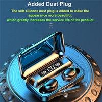 F9-5C TWS 블루투스 5.0 헤드폰 이어폰 9D 스테레오 스포츠 방수 무선 이어폰 터치 컨트롤 헤드셋 이어 버드