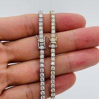 LotusMaple الصلبة 10K أبيض، أصفر، وردة الذهب مويسانيت قلادة سلسلة قلادة كاملة اللون d clarity فلوريدا الماس تمرير اختبار مع شهادة المجوهرات
