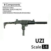 """1: 6 مقياس uzi رشاش بندقية البلاستيك تجميعها النسل نموذج ل 12 """"جنود عمل الشكل الأسلحة العسكرية اللبنات"""