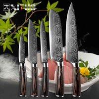 Xituo 5 stücke Küchenmesser Sets Japaner Damaskus Stahl Muster Chefmesser Santoku Kleader Paring Slicing Utility Fish Tool Geschenk