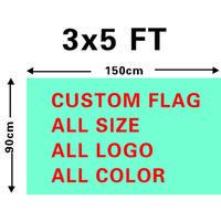 Großhandel Digitaldruck Single Layer Polyester Custom Design Flag 3x5ft mit zwei Messing-Ösen