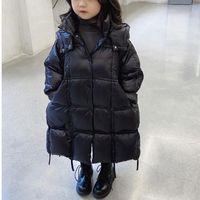 Down Coat Winter Jacket For Girls Children's Clothing Thickened Waterproof Korean Warm Long Black 3-10 Years Kids Parkas Girl