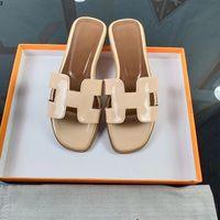 Woman Leather Sandals Slipper Shoes Orange classic Sandals Ladies Summer Flat Slipper outdoor beach woman Flip Flops For Woman 35-42 mkj44545