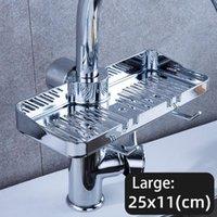 Banheiro Armazenamento Organização Pia de Cozinha Faucet Esponja Soap Cesta Prateleira Prateleira Multifuncional Qualidade de Instalação Simples # 10