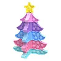 US-Bestreitungs-Party Favor Weihnachtsgeschenke Baum-Push-Fingerspitzen-Spielzeug DIY-Puzzles Zappeln Dekompressionsspielzeug Neujahrs-Valentinstagdekorationen