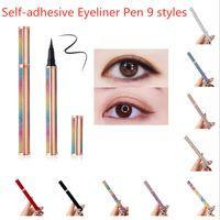 ماكياج 9 أنماط ذاتية اللصق كحل القلم الغراء خالية خالية المغناطيسي للرموش الصناعية ماء العين بطانة قلم رصاص أعلى جودة