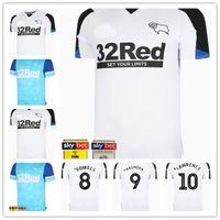 20 21 22 Derbyshire 축구 유니폼 스포츠웨어 2021 2022 남자 유니폼 홈 화이트 웨이션 푸른 세 번째 핑크 맞춤 축구 셔츠
