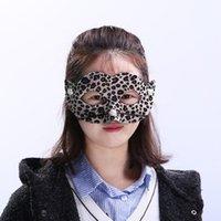 Party Masks 2021pvc leopard mask make up Dance Halloween Mask Decorate 4 color T2I52347 LJJ