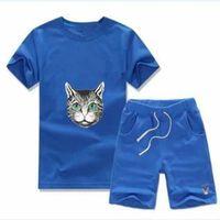 봄 여름 아기 소년의 티셔츠 바지 2-piec 세트 2-7 세 Olde 정장 아이 의류 어린이 2pcs면