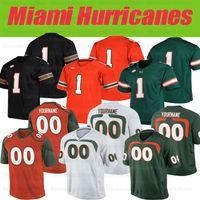 Personalizado Miami Hurricanes Jersey # 6 Miller # 5 Johnson # 16 Evan Shirreffs # 17 Stephen Morris # 97 Jonathan Garvin Jerseys