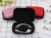 EVA Reißverschluss Ohrhörer Ohrhörer Harte Hüllen Tragen Aufbewahrungstaschen Beutel Tragbare PU-Abdeckungshalter für Karten USB-Kabel-Stereo-Bluetooth-Headset-Box