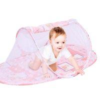 سرير الطفل المحمولة سرير المعاوضة للطي طي البعوض الطفل الكرتون السفينة القوس شبكة صافي الرضع مهد النوم